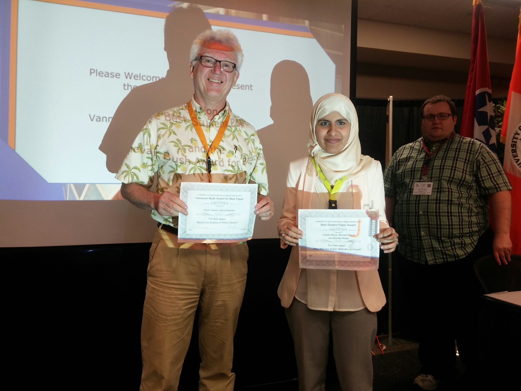 JCDL 2016 best paper award winners