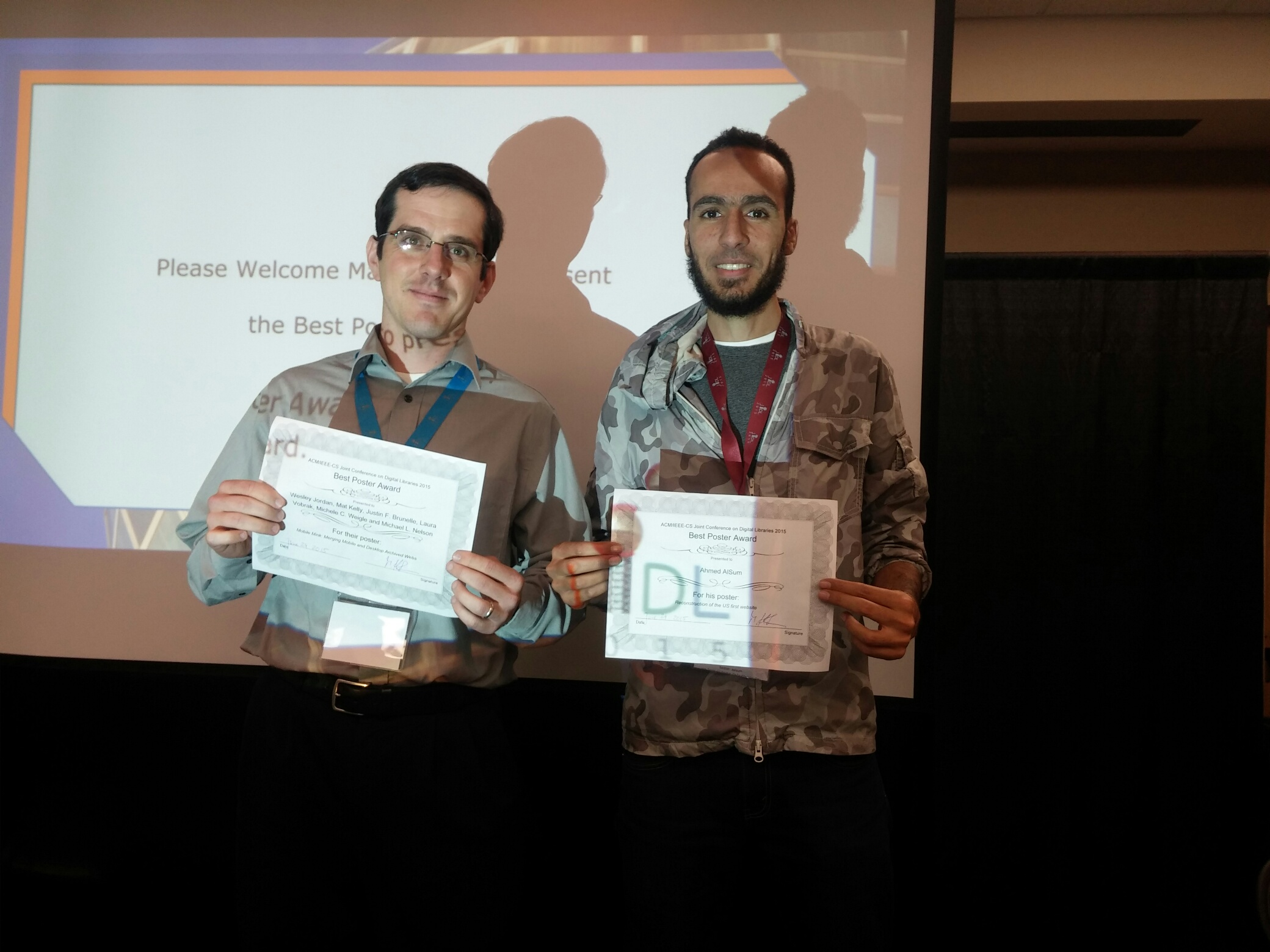 JCDL 2016 best poster award winners